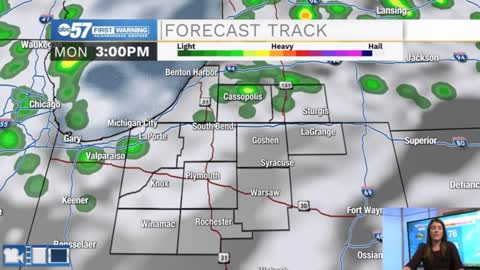 Isolated showers today then becoming windy Tuesday